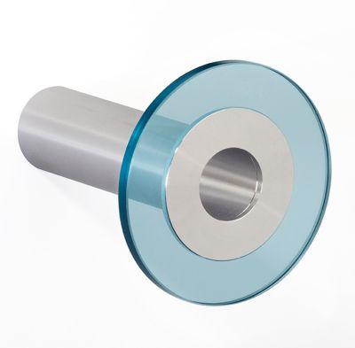 Design-Garderobenhaken POINT - Hakenlänge 100 mm, transparentblau