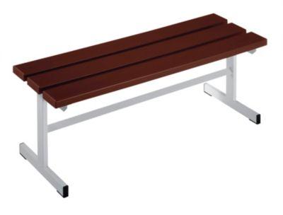 Garderobenbank - Sitzfläche einseitig braun, 1000 mm Länge