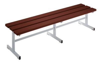 Garderobenbank - Sitzfläche einseitig braun, 1500 mm Länge
