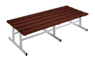 Garderobenbank - Sitzfläche beidseitig braun, 1500 mm Länge