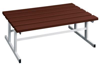 Garderobenbank - Sitzfläche beidseitig braun, 1000 mm Länge