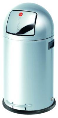 Großraum-Abfallbox KICKMAXX - Volumen 35 l Edelstahl