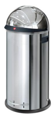 Großraum-Abfallbox KICKVISIER - Volumen 50 Liter Edelstahl