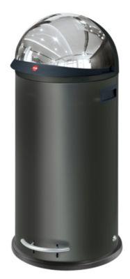 Großraum-Abfallbox KICKVISIER - Volumen 50 Liter schwarz