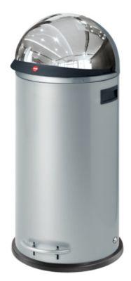 Großraum-Abfallbox KICKVISIER - Volumen 50 Liter silber
