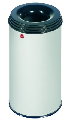 Papierkorb PROFILINE SAFE, flammenlöschend - Volumen 20 l alugrauweiß