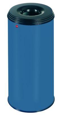 Papierkorb PROFILINE SAFE, flammenlöschend - Volumen 50 l blau