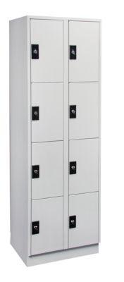 Garderobenschrank, Fachhöhe 410 mm - 2 Abteile à 300 mm Breite