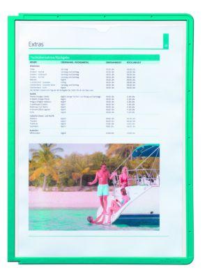 Klarsichttafel mit Profilrahmen - für DIN A4, VE 10 Stk grün,