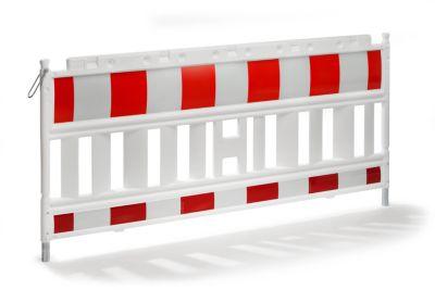 Absperrgitter, Kunststoff mit reflektierender Folie - weiß / rot ab 5
