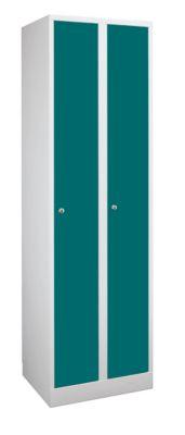 Garderobenschrank in Komfort-Größe - 2 Abteile, Abteilbreite 400