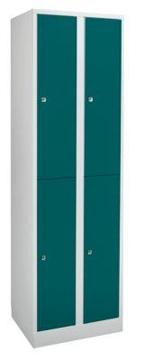 Garderobenschrank in Komfort-Größe 4 Abteile, Abteilbreite 300