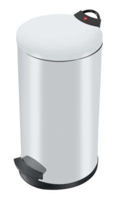 Treteimer, flammverlöschend - Volumen 20 Liter weiß RAL 9003