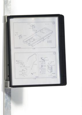 Wandhalter-Komplett-Set, magnetisch - 5 Klarsichttafeln DIN A4