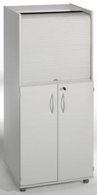 office akktiv Computerschrank mit Kunststoffrollladen, mobil - Premium