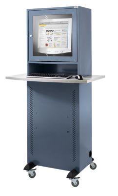 Computerschrank - mit melaminharzbeschichteter Arbeitsplatte