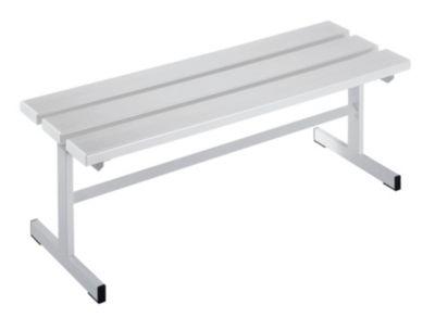Garderobenbank - Sitzfläche einseitig lichtgrau, 1000 mm Länge