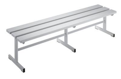 Garderobenbank - Sitzfläche einseitig lichtgrau, 1500 mm Länge