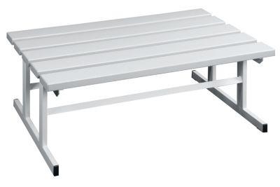 Garderobenbank - Sitzfläche beidseitig lichtgrau, 1000 mm Länge