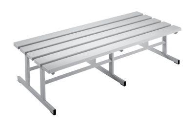 Garderobenbank - Sitzfläche beidseitig lichtgrau, 1500 mm Länge