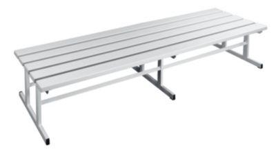 Garderobenbank - Sitzfläche beidseitig lichtgrau, 2000 mm Länge
