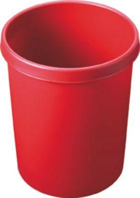 Kunststoff-Papierkorb - Inhalt 45 l, Höhe 480 mm, VE 2 Stk rot,