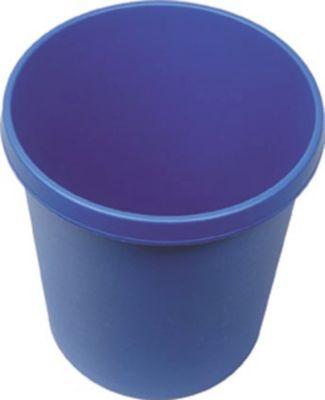 Kunststoff-Papierkorb - Inhalt 18 l, Höhe 320 mm, VE 6 Stk blau,