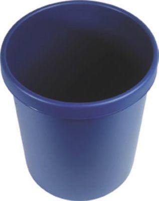Kunststoff-Papierkorb - Inhalt 30 l, Höhe 405 mm, VE 5 Stk blau,