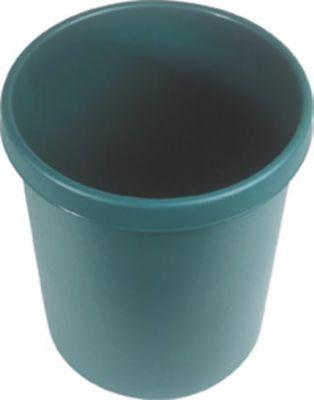 Kunststoff-Papierkorb - Inhalt 30 l, Höhe 405 mm, VE 5 Stk grün,