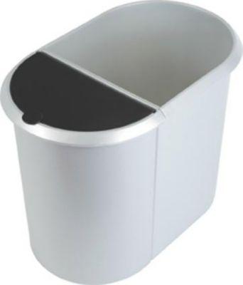 System-Papierkorb - DUO, 1 großer Behälter ohne Deckel, 1