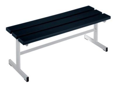 Garderobenbank - Sitzfläche einseitig schwarz, 1000 mm Länge