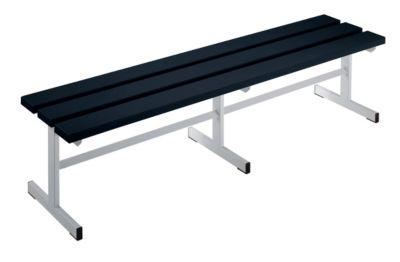 Garderobenbank - Sitzfläche einseitig schwarz, 1500 mm Länge