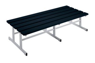 Garderobenbank - Sitzfläche beidseitig schwarz, 1500 mm Länge