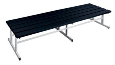 Garderobenbank - Sitzfläche beidseitig schwarz, 2000 mm Länge