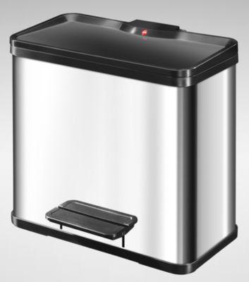 Wertstoff-Tretsammler aus Edelstahl - Höhe 440 mm Innenbehälter 1 x 11