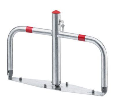 Parkbügel aus Stahl, umklappbar - Zylinderschloss