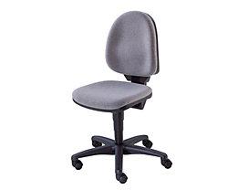 Ein klassischer Standard-Drehstuhl ohne Armlehnen in grau