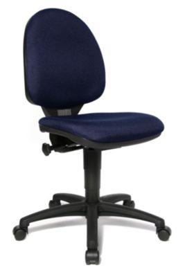 Standard-Drehstuhl - ohne Armlehnen, Rückenlehne 450 mm Stoff
