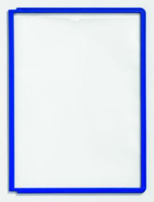 Klarsichttafel mit Profilrahmen - für DIN A4, VE 10 Stk blau