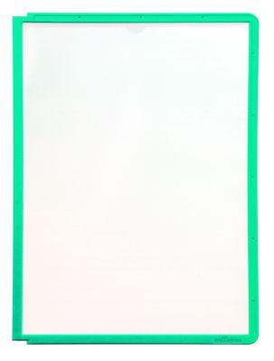 Klarsichttafel mit Profilrahmen - für DIN A4, VE 10 Stk grün