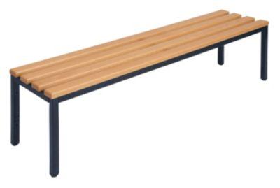 Garderobenbank ohne Lehne - Buchenholzleisten Länge 1500 mm