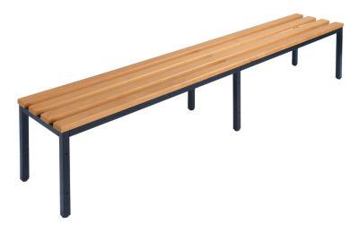 Garderobenbank ohne Lehne - Buchenholzleisten Länge 2000 mm
