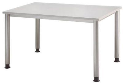 Schreibtisch - BxT 1200 x 800 mm, 4 Rundrohrbeine lichtgrau