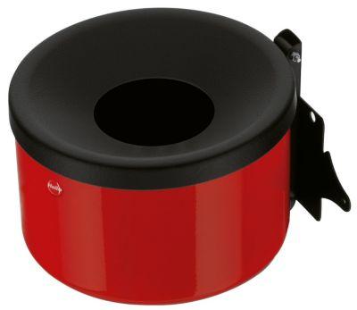 Wandascher, flammverlöschend, Kipp-Entleerung - Höhe 110 mm rot