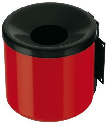 Wandascher, flammverlöschend, Kipp-Entleerung - Höhe 160 mm rot