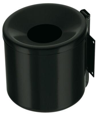 Wandascher, flammverlöschend, Kipp-Entleerung - Höhe 160 mm schwarz