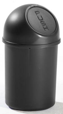 Push-Abfallbehälter aus Kunststoff - Volumen 6 l, Höhe 375 mm,