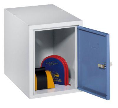 Schließfachwürfel - 1 Fach, einbrennlackiert taubenblau/lichtgrau