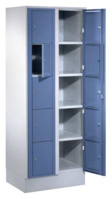 Wäscheausgabeschrank - HxBxT 1800 x 700 x 500 mm, 10 Fächer