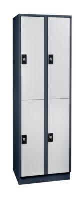 Schließfachschrank, Fachhöhe 820 mm - 4 Fächer, Breite 600 mm
